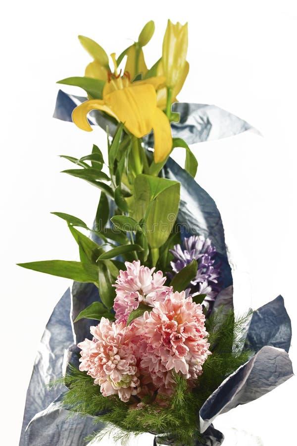 Mazzo dei fiori differenti di colore immagine stock