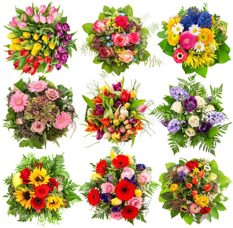 Mazzo dei fiori per la molla e le vacanze estive Oggetti floreali fotografie stock libere da diritti
