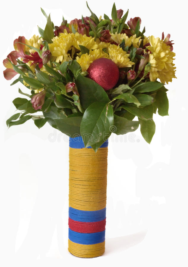 Mazzo dei fiori in un vaso immagini stock