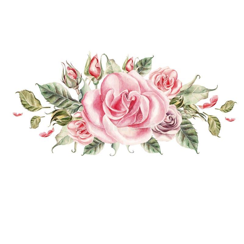 Fiori Watercolor.Mazzo Dei Fiori Watercolor Illustrazione Di Stock Illustrazione
