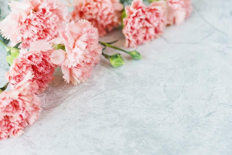 Mazzo dei garofani rosa fotografia stock