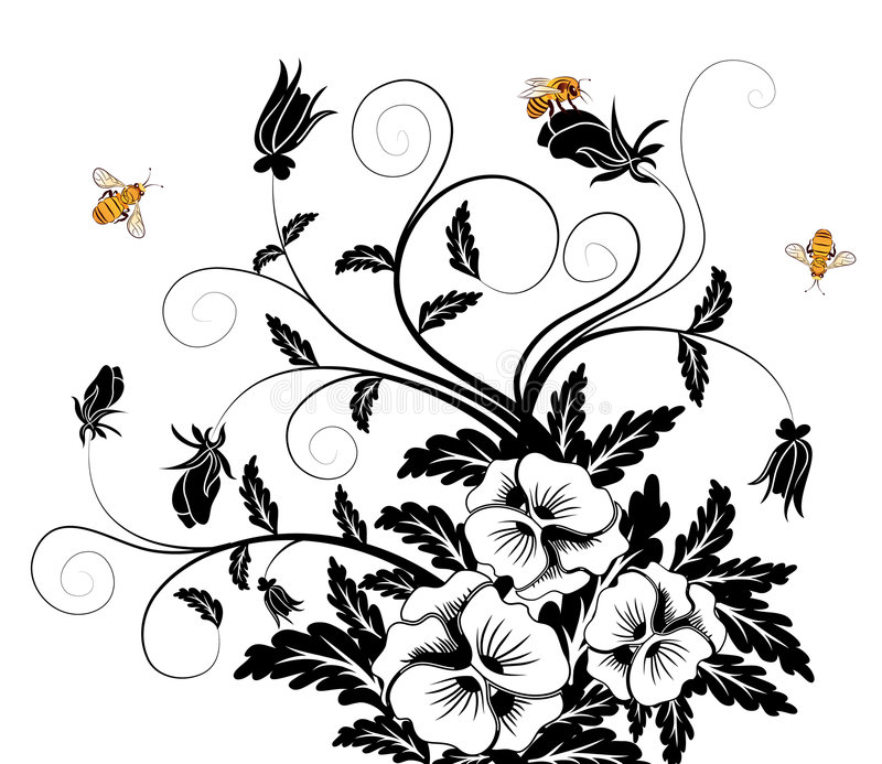 Mazzo dei pansies illustrazione vettoriale