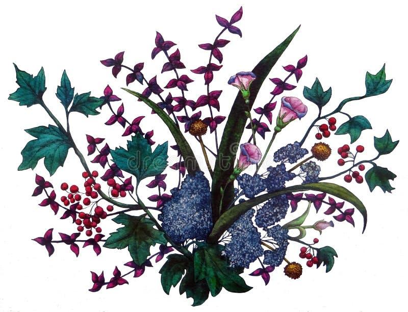Mazzo del fiore illustrazione vettoriale