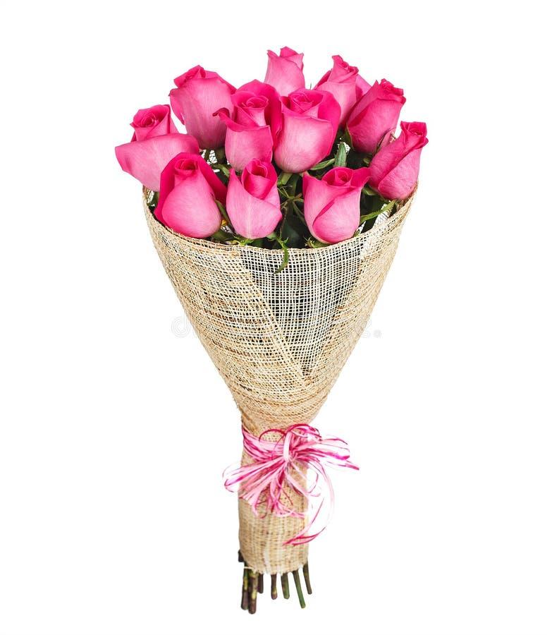 Mazzo del fiore delle rose rosa fotografie stock