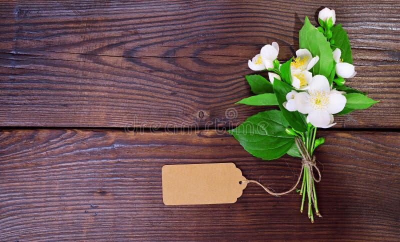 Mazzo del gelsomino bianco di fioritura immagini stock libere da diritti