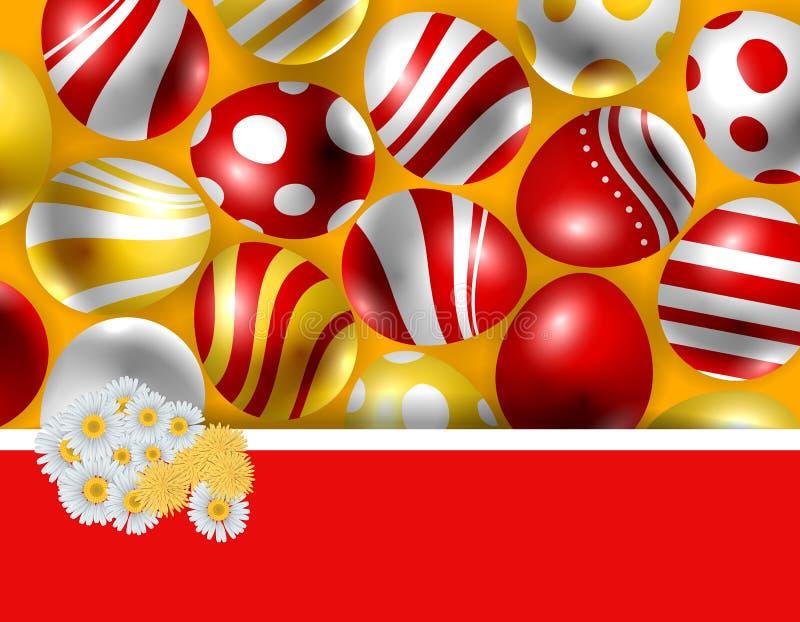 Mazzo della margherita ed uova di Pasqua royalty illustrazione gratis