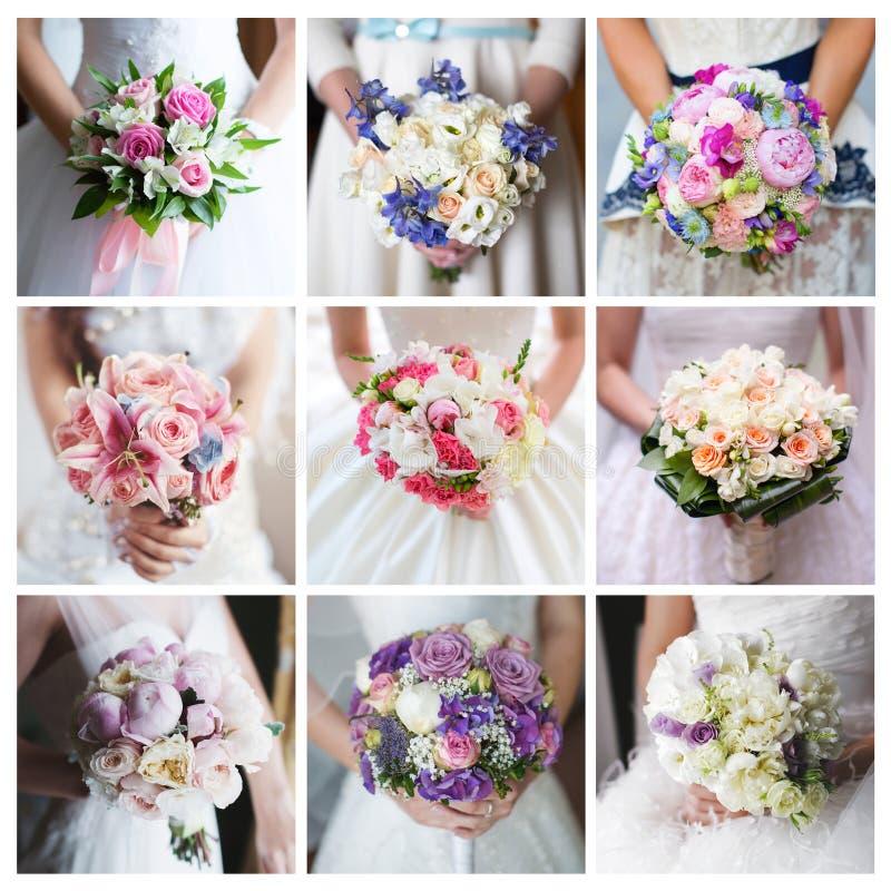 Mazzo della sposa collage immagine stock immagine di for Disegni del mazzo del secondo piano
