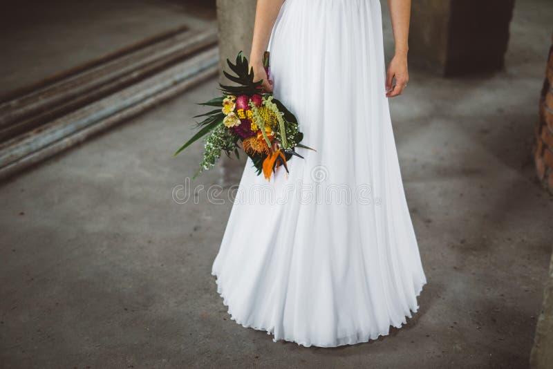 Mazzo della sposa, il mazzo di nozze, flori di nozze di nozze fotografia stock libera da diritti