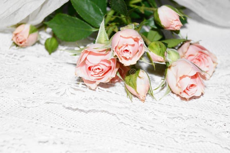 Mazzo delle rose dentellare immagini stock