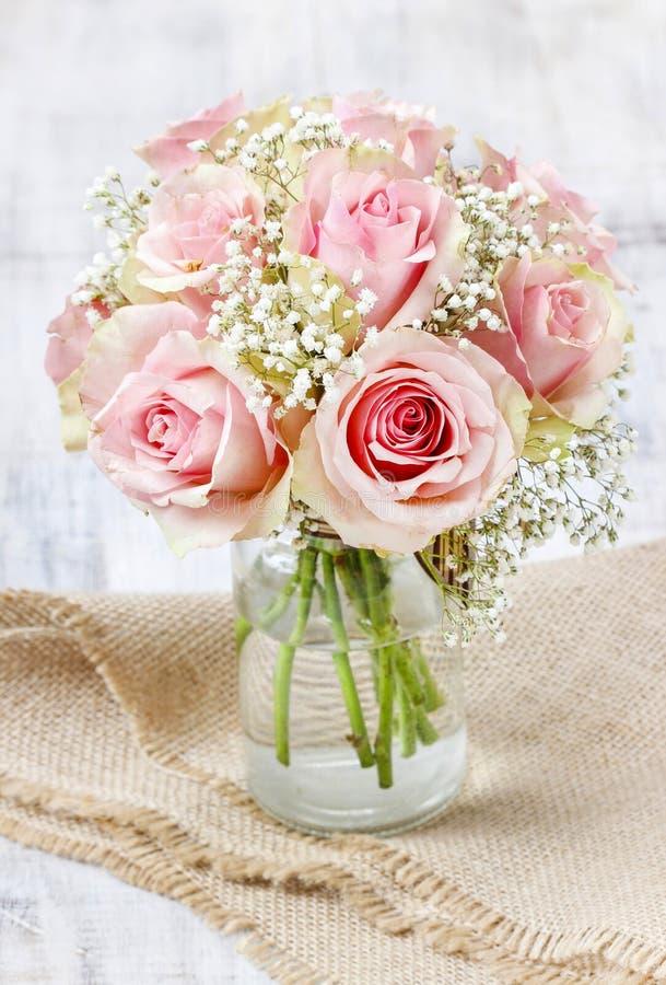 Mazzo delle rose rosa immagine stock libera da diritti