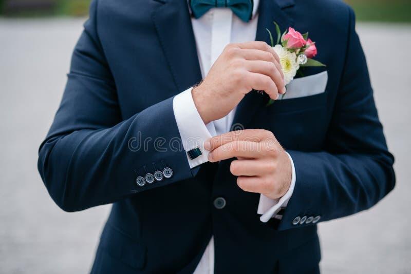 Mazzo dello sposo, il mazzo di nozze, flori di nozze di nozze fotografia stock libera da diritti