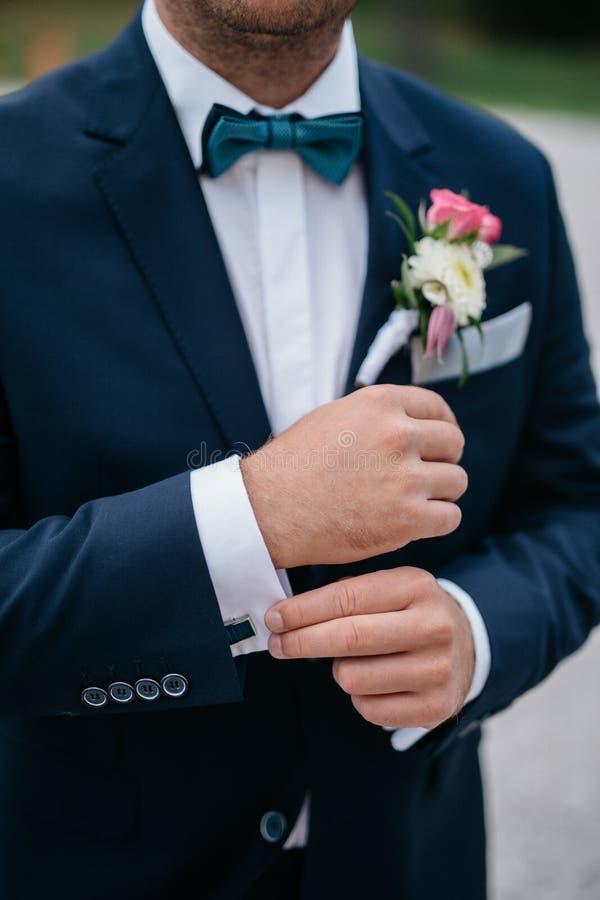 Mazzo dello sposo, il mazzo di nozze, flori di nozze di nozze fotografie stock