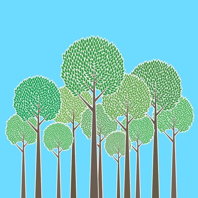 Mazzo di alberi royalty illustrazione gratis