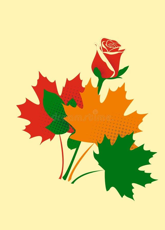 Mazzo di autunno illustrazione vettoriale