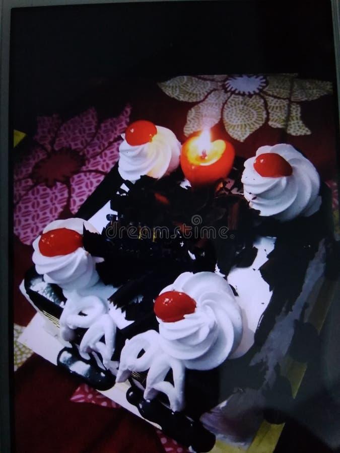 Mazzo di caks per il compleanno e fotografie stock libere da diritti