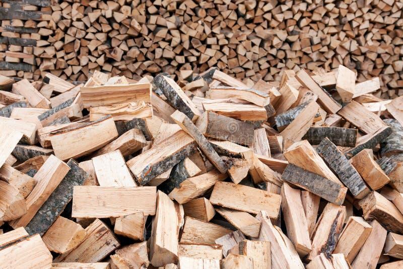Mazzo di ceppi di legno immagini stock