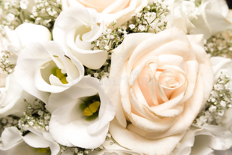 Mazzo di cerimonia nuziale di fiori fotografie stock