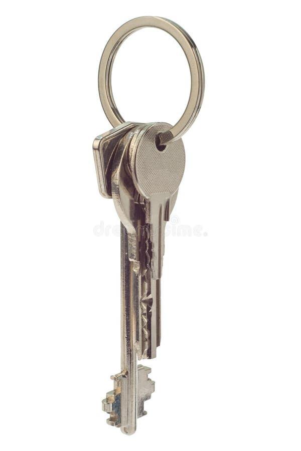 Mazzo di chiavi isolato su fondo bianco immagine stock libera da diritti