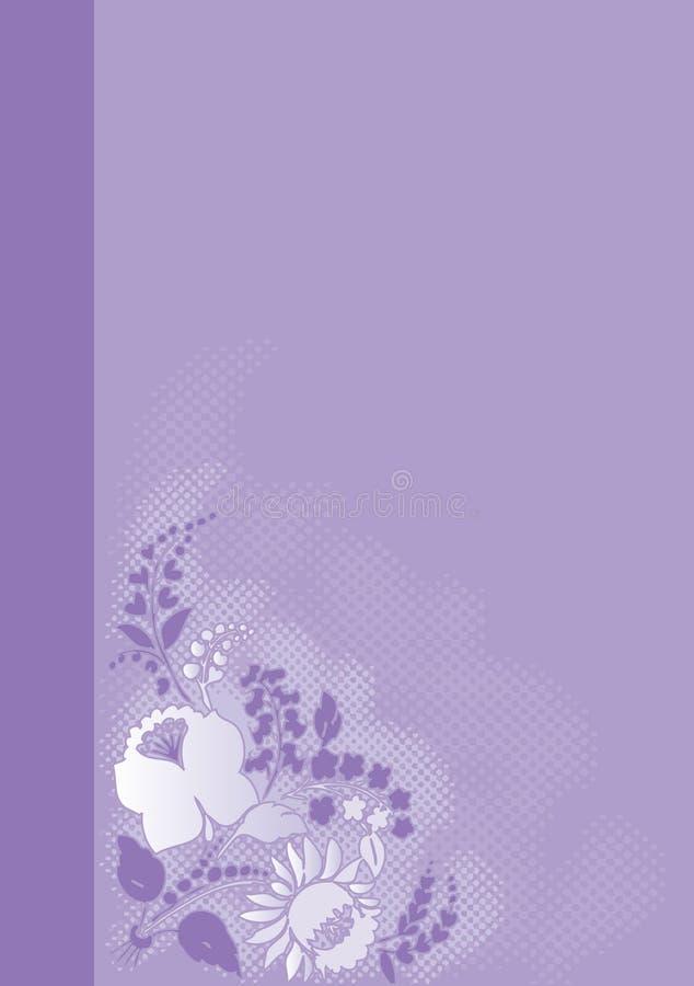 Mazzo di fiori su bacground viola illustrazione vettoriale