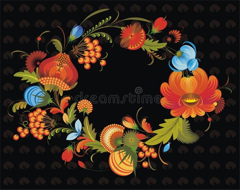 Mazzo di flowers_1 rosso royalty illustrazione gratis