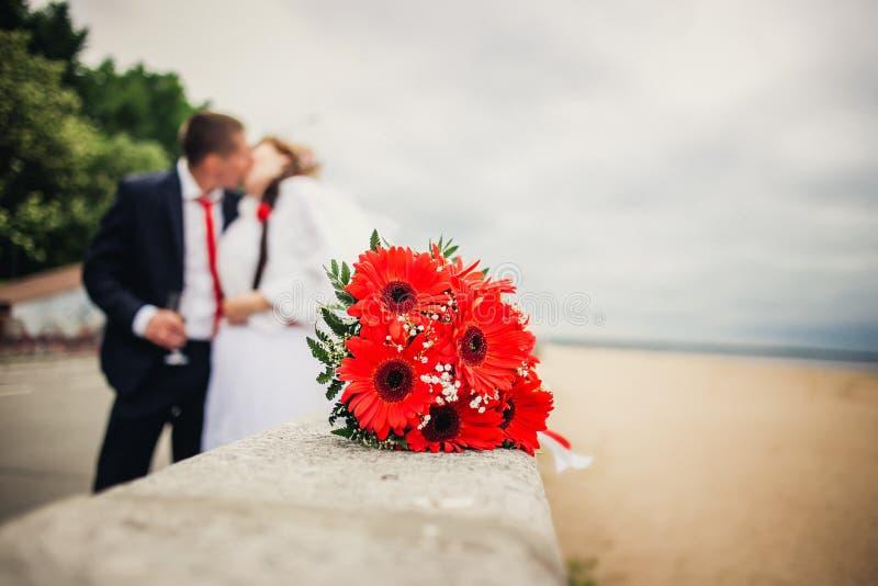 mazzo di nozze nella priorità alta fotografie stock libere da diritti
