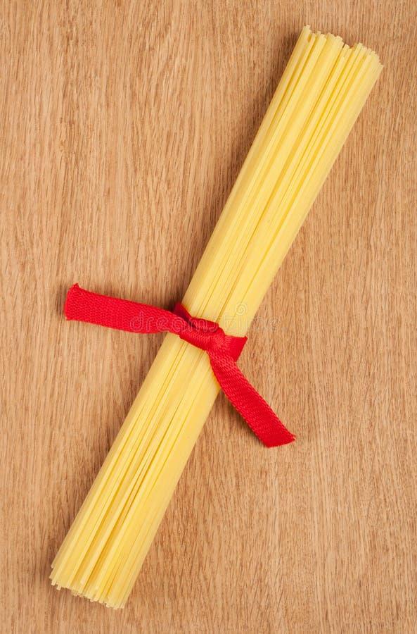 Mazzo di spaghetti fotografia stock libera da diritti