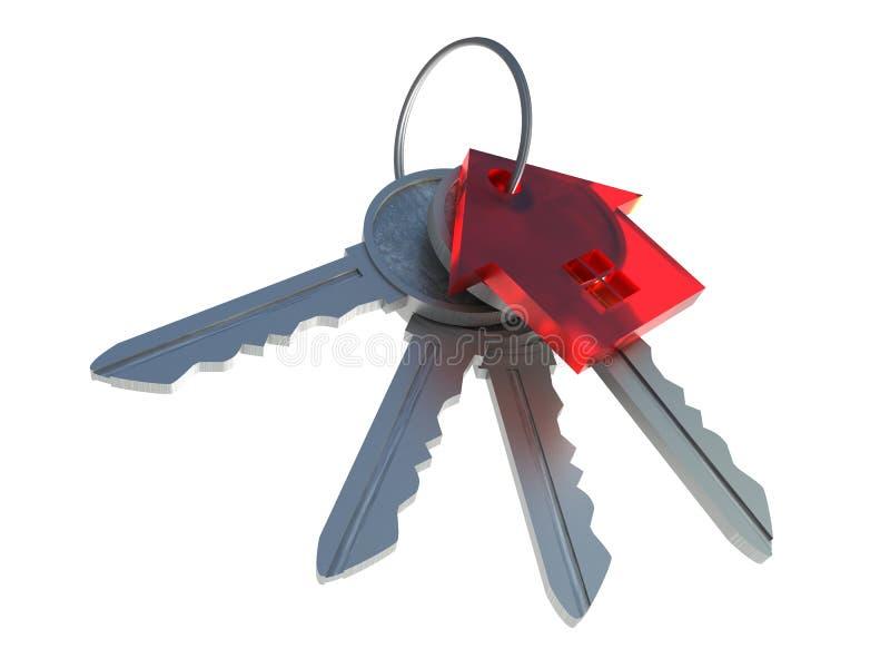 Mazzo di chiavi fotografia stock