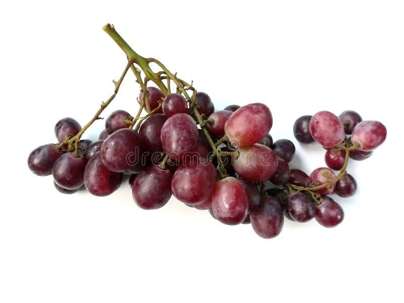 Mazzo di uva, frutta deliziosa, fondo saporito e bianco dolce fotografie stock