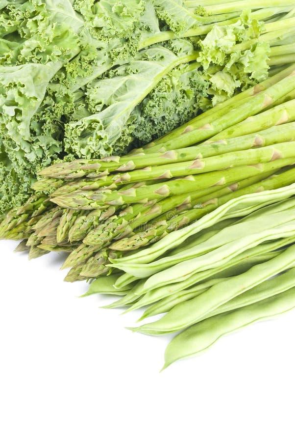 Mazzo di verdure verdi fotografia stock
