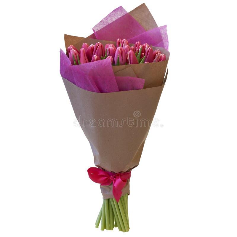 Mazzo festivo dei fiori in un bello pacchetto fotografia stock