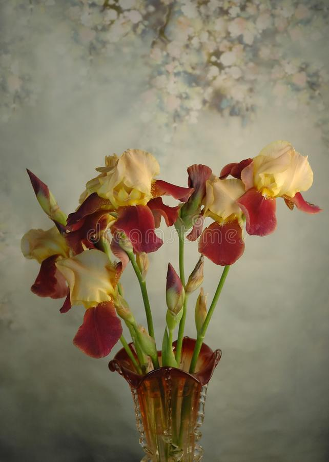 Mazzo floreale in vaso fotografia stock