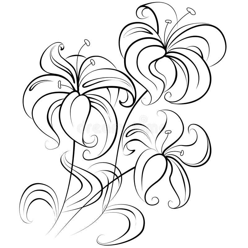 Mazzo Di Fiori Stilizzato.Mazzo Stilizzato Dei Fiori Illustrazioni Vettoriali E Clipart