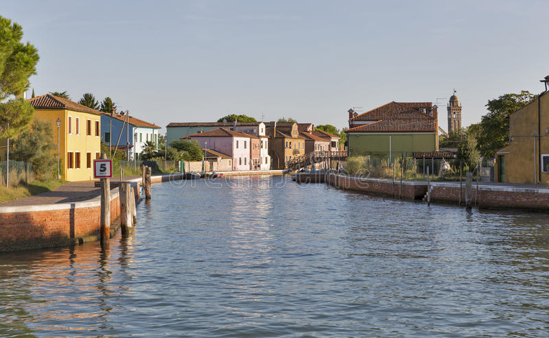 Mazzorbo-Stadtbild mit Kanal, Venedig, Italien stockfoto