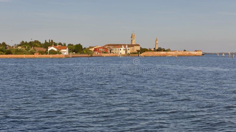 Mazzorbo-Stadtbild und Venedig-Lagune, Italien stockfotografie