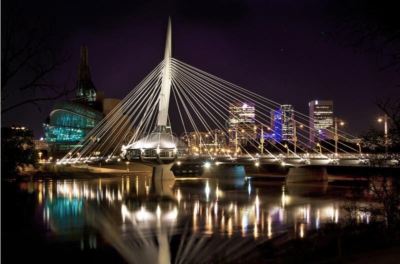 MB de Winnipeg da ponte de Provencher fotos de stock royalty free