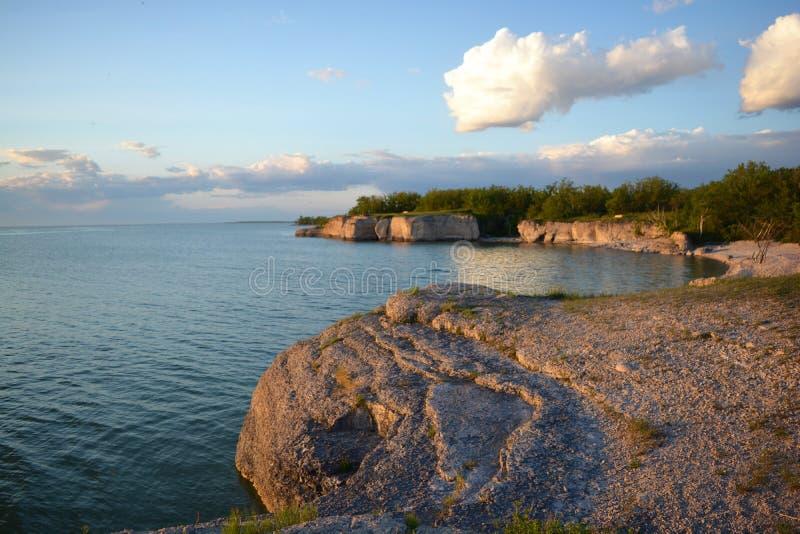 MB escarpado de Canadá de la roca imagenes de archivo
