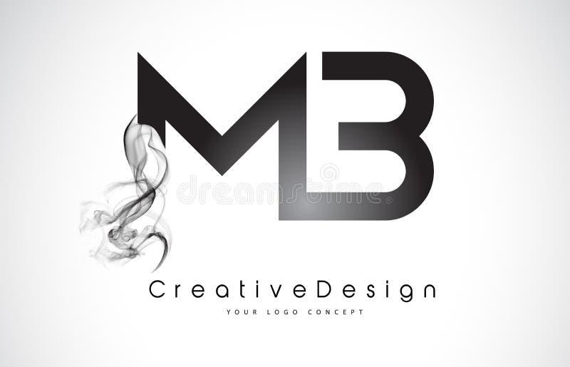 MB Letter Logo Design with Black Smoke. royalty free illustration