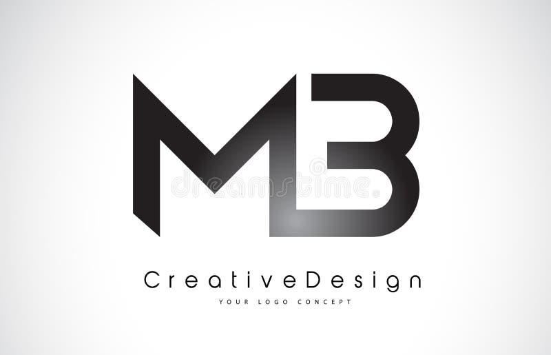 MB M-B信件商标设计 创造性的象现代信件传染媒介L 库存例证