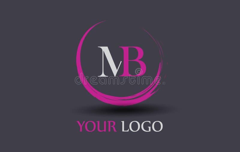 MB M B Letter Logo Design stock illustrationer