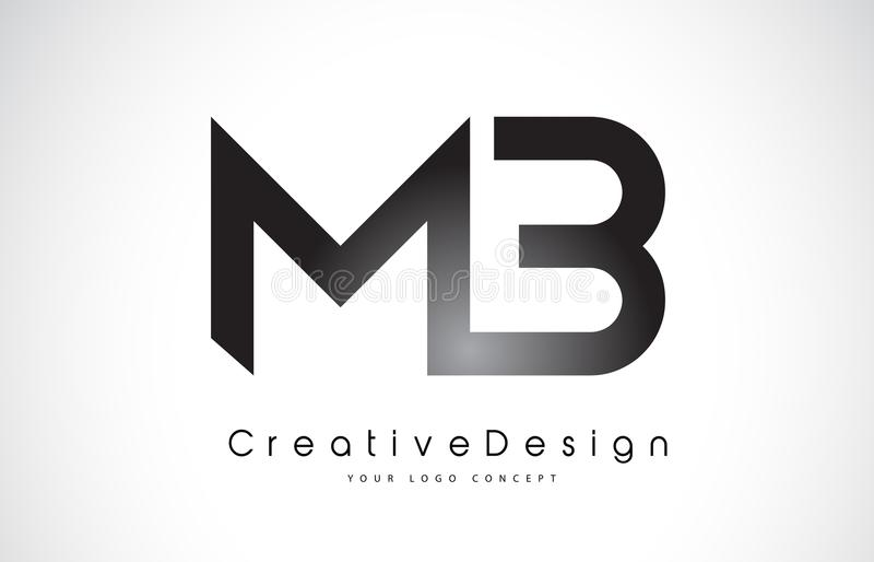 MB M B Letter Logo Design Vetor moderno L das letras do ícone criativo ilustração stock