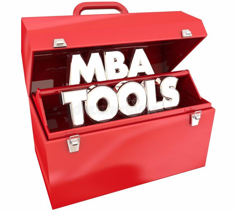 MBA bearbetar expertis för grad för administration för Toolboxförlageaffär vektor illustrationer
