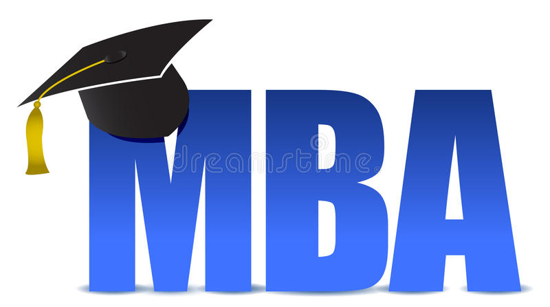 MBA graduation tassel hat stock illustration