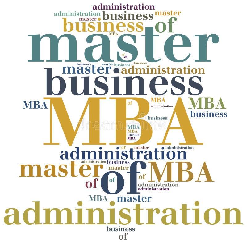 MBA Master en administración de empresas ilustración del vector