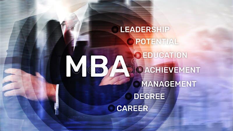MBA - Master en administración de empresas, aprendizaje electrónico, educación y concepto personal del desarrollo libre illustration