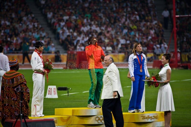 Mbango Francois ganha a medalha de ouro imagem de stock royalty free