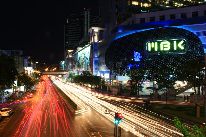 MBK на ноче стоковая фотография
