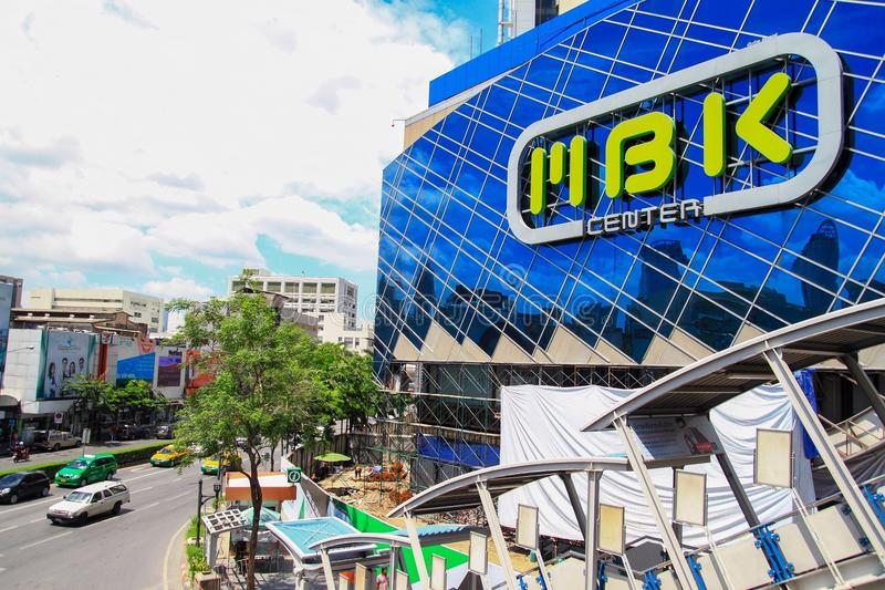 MBK Center, shopping mall in Bangkok. MBK Center, also known as Mahboonkrong , is a large shopping mall in Bangkok, Thailand. At eight stories high, the center royalty free stock images