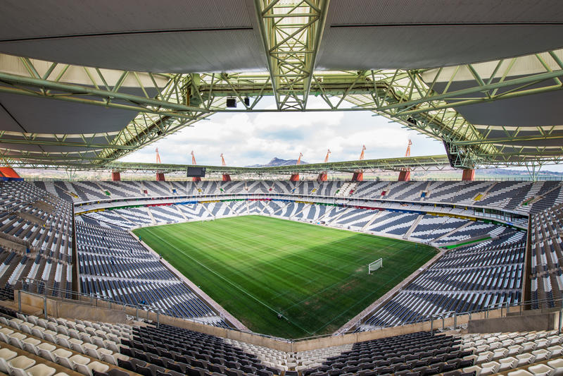 Mbombela Stadium Suráfrica de Nelspruit foto de archivo