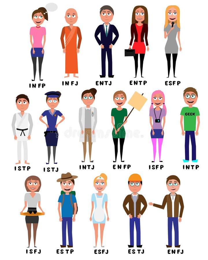 Free MBTI Personality_cartoon Characters Stock Photos - 203051873