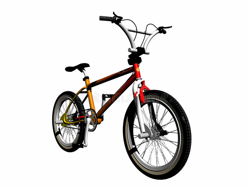 Mbx bicycle over white. stock illustration